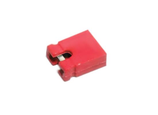 10x Computer PCB Jumper Bridge 2-Pin Caps Red / Kurzschluss-Stecker Brücken Rot
