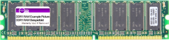256MB DDR-266MHz RAM PC2100U 184-Pin Pol DDR1 PC memory Computer Arbeitsspeicher