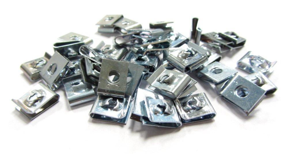100x Schnappmuttern 2,9mm Blechmuttern Klemmmuttern Snap sheet metal speed nut 4060787063960