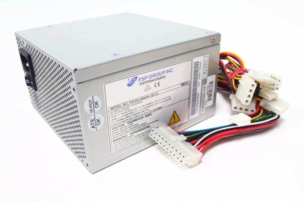 FSP Fortron/Source FSP250-60MDN-120 (1) 250Watt ATX PC Netzteil ...