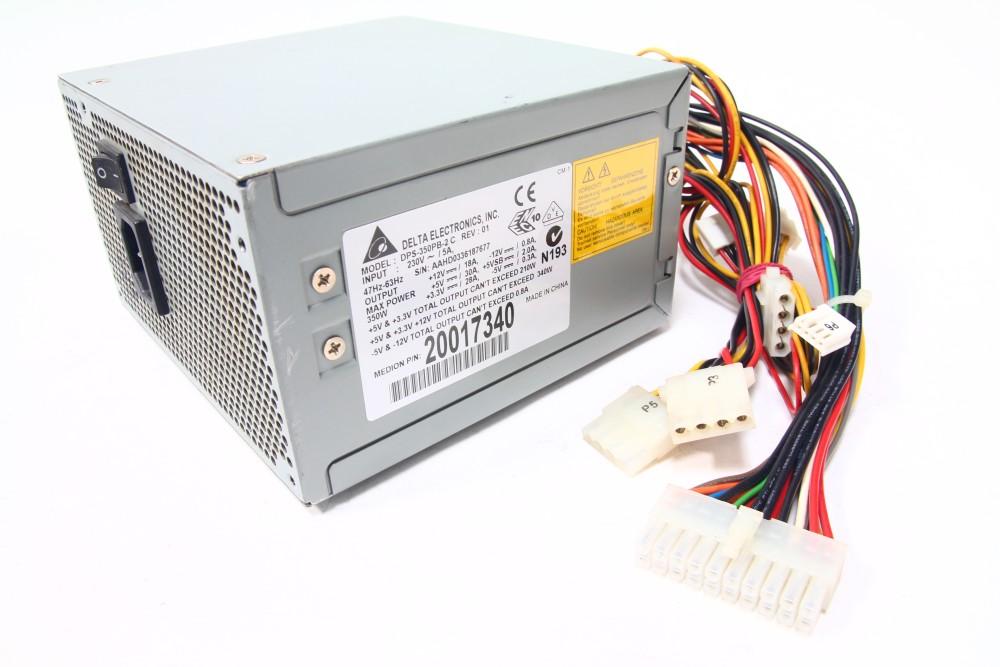 Delta Electronics DPS-350PB-2 C Medion P/N 20017340 350W Netzteil / Power Supply 4060787046796