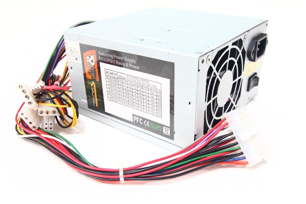 Rasurbo RBP-400CL 400Watt ATX Computer Switching Power Supply PFC ...