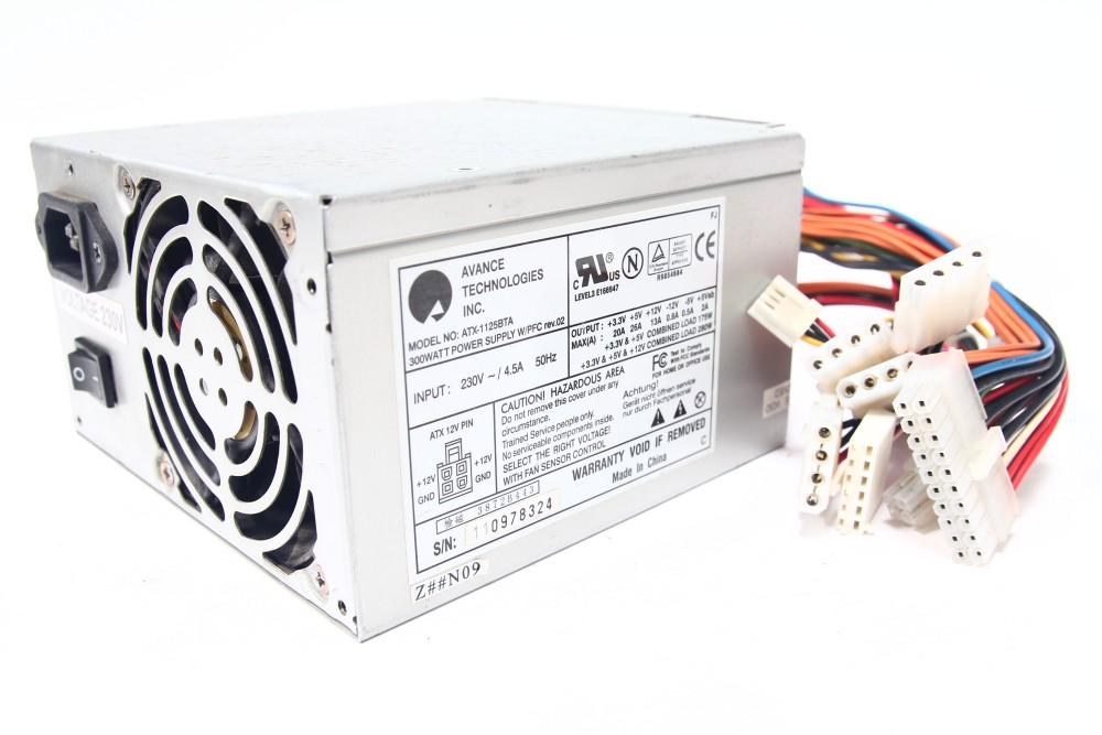 Avance Technologies ATX-1125BTA 300Watt PC Power Supply Unit Standard ATX PFC 4060787058102