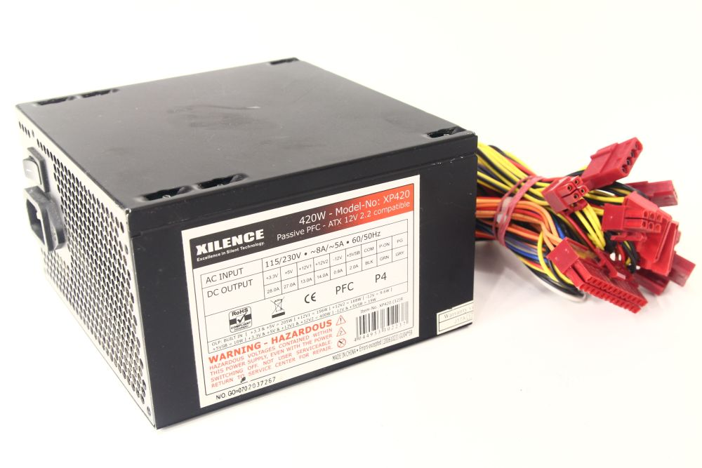 Xilence-Power-Supply-XP420-Computer-Netzteil-ATX-420W-Passive-PFC-120mm-Fan-12V