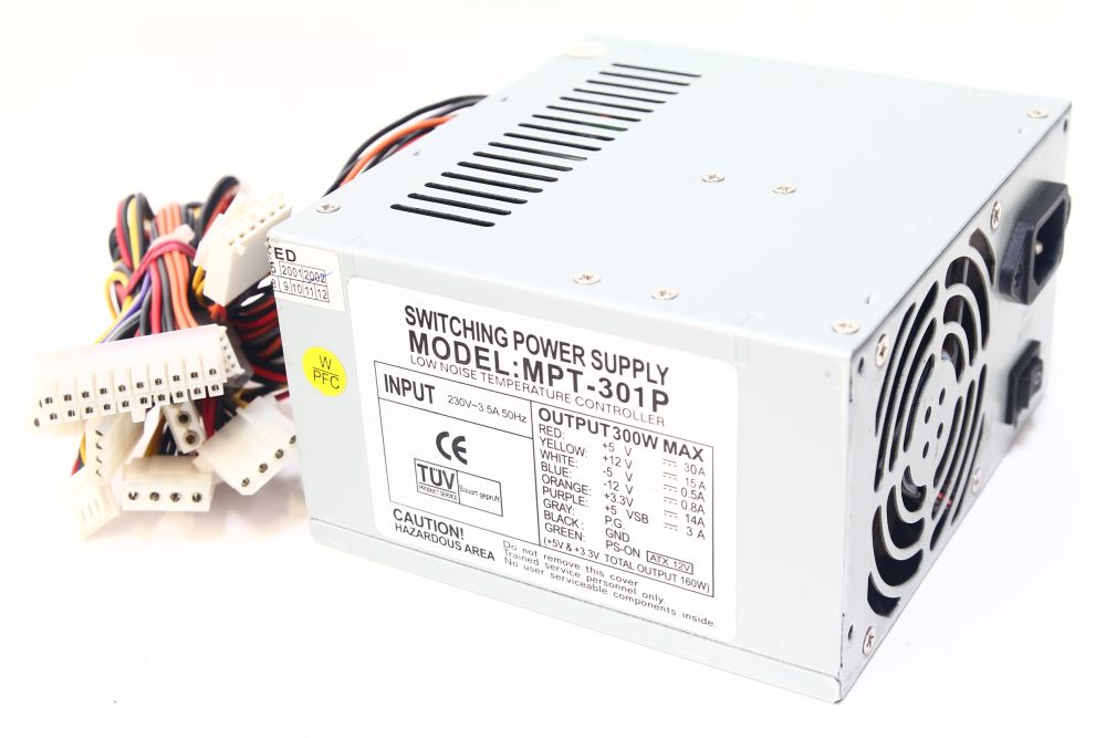 Macron-Power-MPT-301P-ATX-12V-300W-Low-Noise-Computer-Netzteil-PC-Power-Supply
