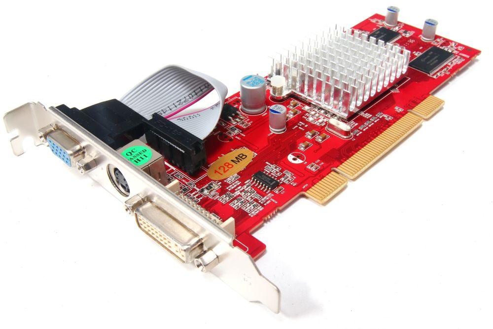 New ATI Radeon 9200 128MB 64-Bit PCI Graphics Card VGA DVI TV-OUT PC Grafikkarte 4060787165459