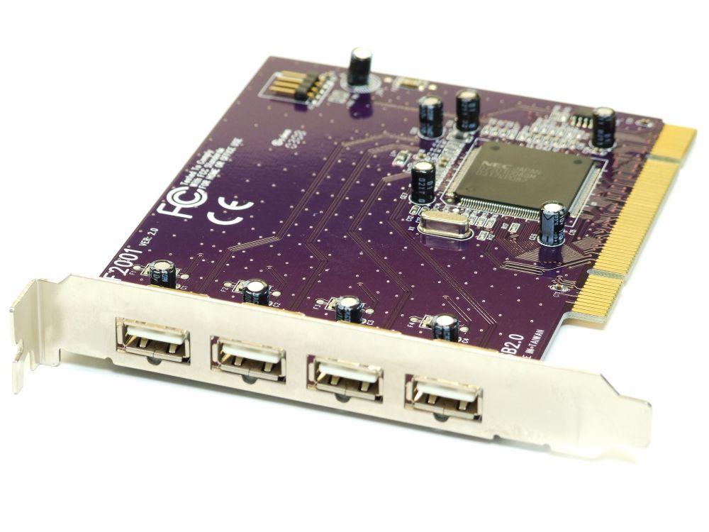 4-Port USB Interface Hub Adapter Host Controller Card/Karte Windows Desktop PC 4060787195470