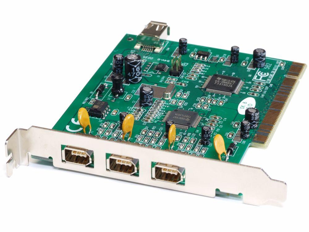 3 External +1 Internal Port Firewire PCI PC Host Controller ...