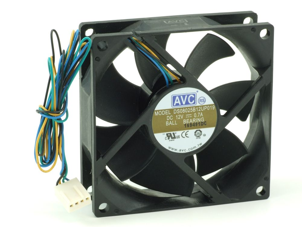 Axial CPU/Case Fan Prozessor-/Gehäuse-Lüfter 80x80x25mm 12V 0.7A 8.4W 4-Wire/Pin 4060787206275