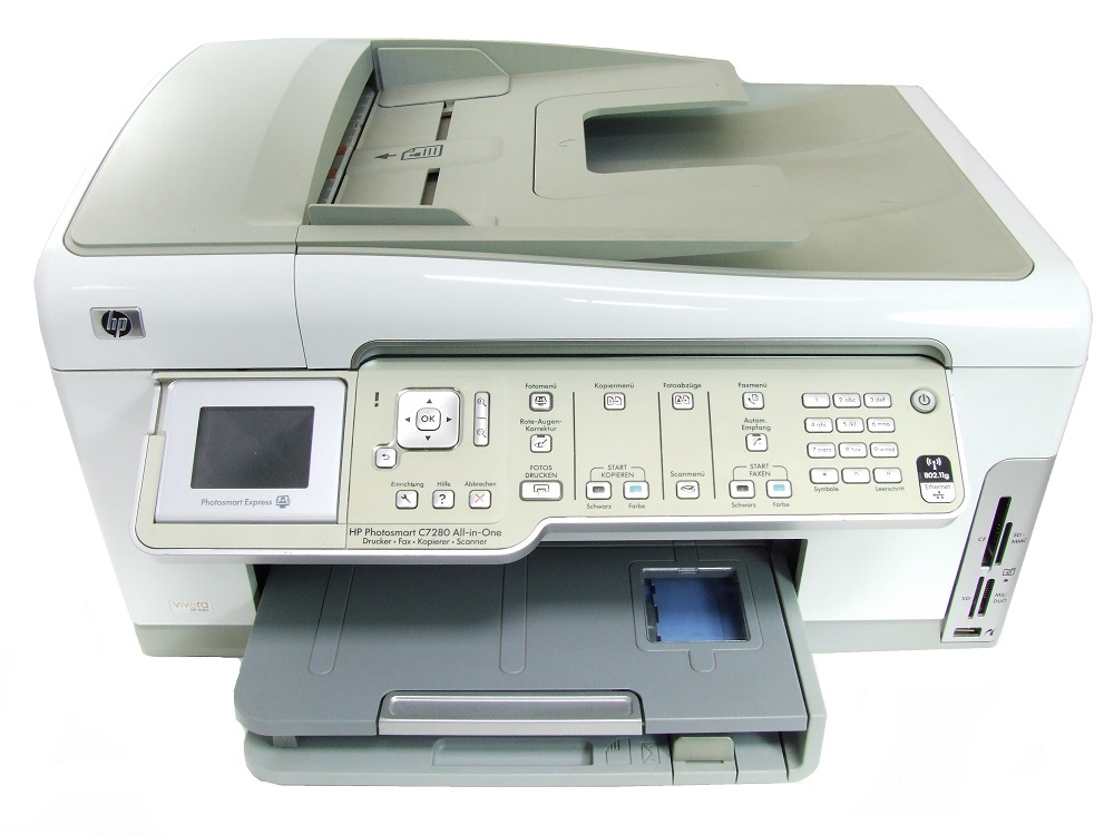 HP Photosmart C7280 All-in-One Printer Multifunktionsdrucker Scanner WiFi CC564A 4060787232922