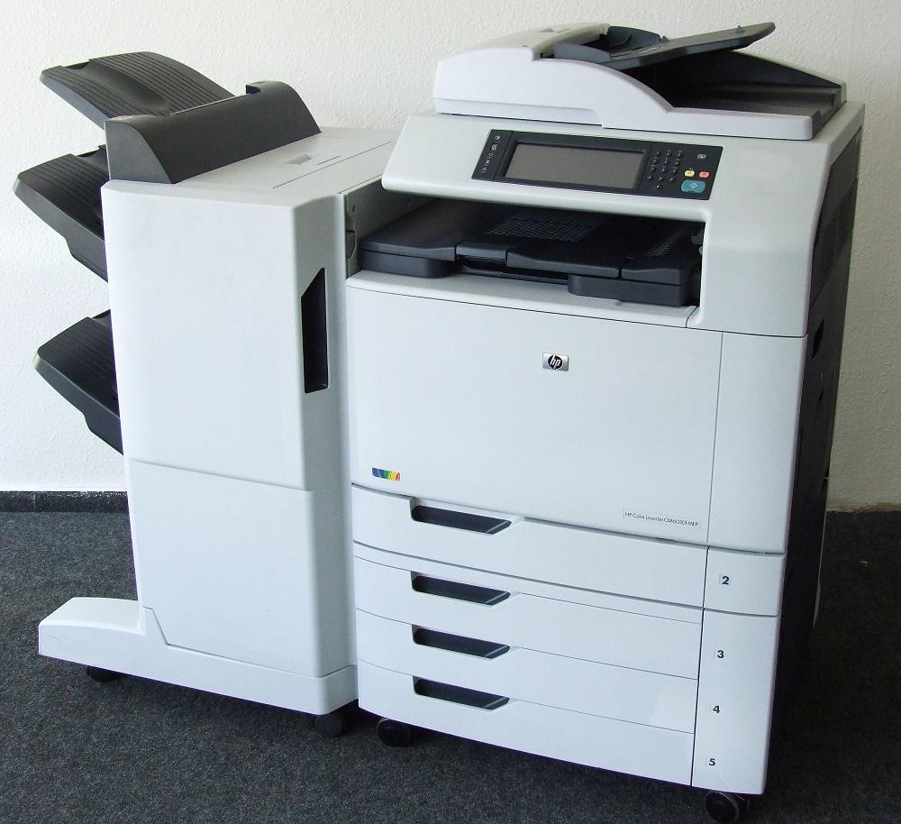 HP Color LaserJet CM6030f MFP Kopierer Drucker Fax Multifunktionsgerät +Finisher 884962833223