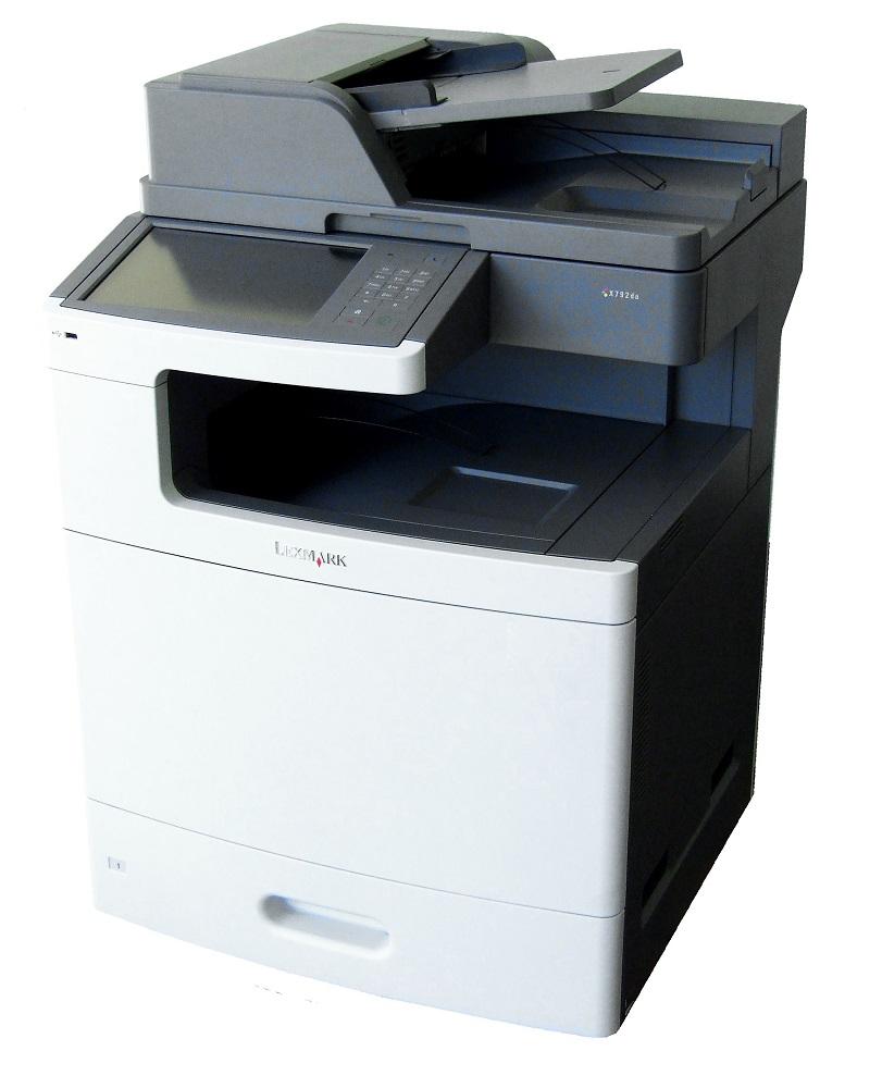 Lexmark X792de Farblaser Drucker Laser Printer LAN Netzwerk USB bis 47 S./Min. 734646213745