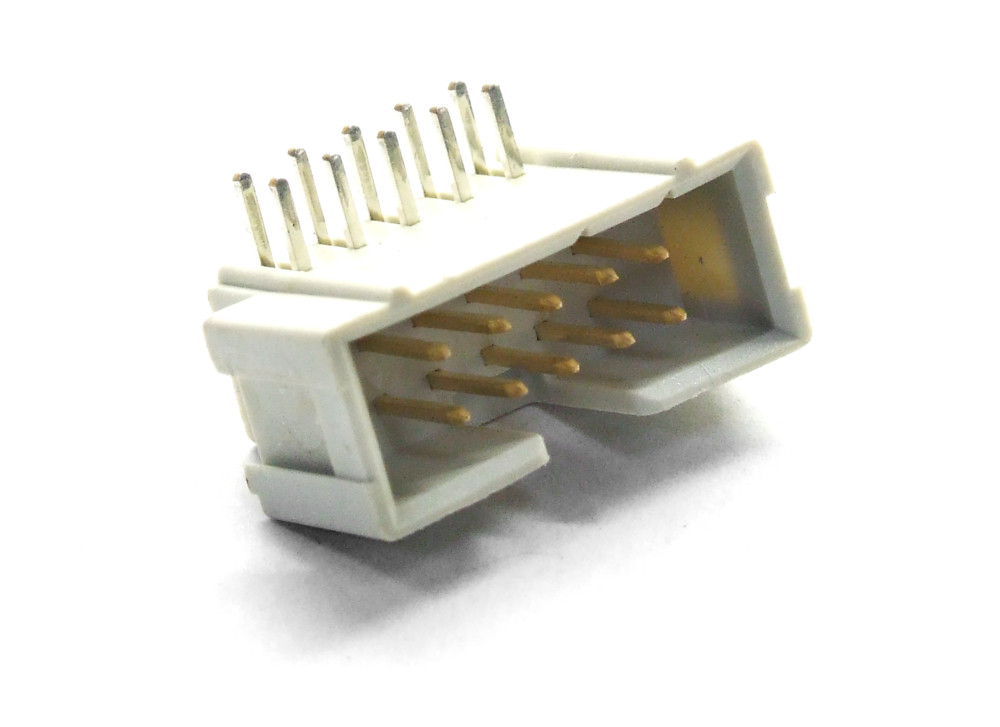SMT Dual Row 10-Pin Solder Plug Angle PCB Male Connector/Stecker-Leiste 2x 5 Pol 4060787086815