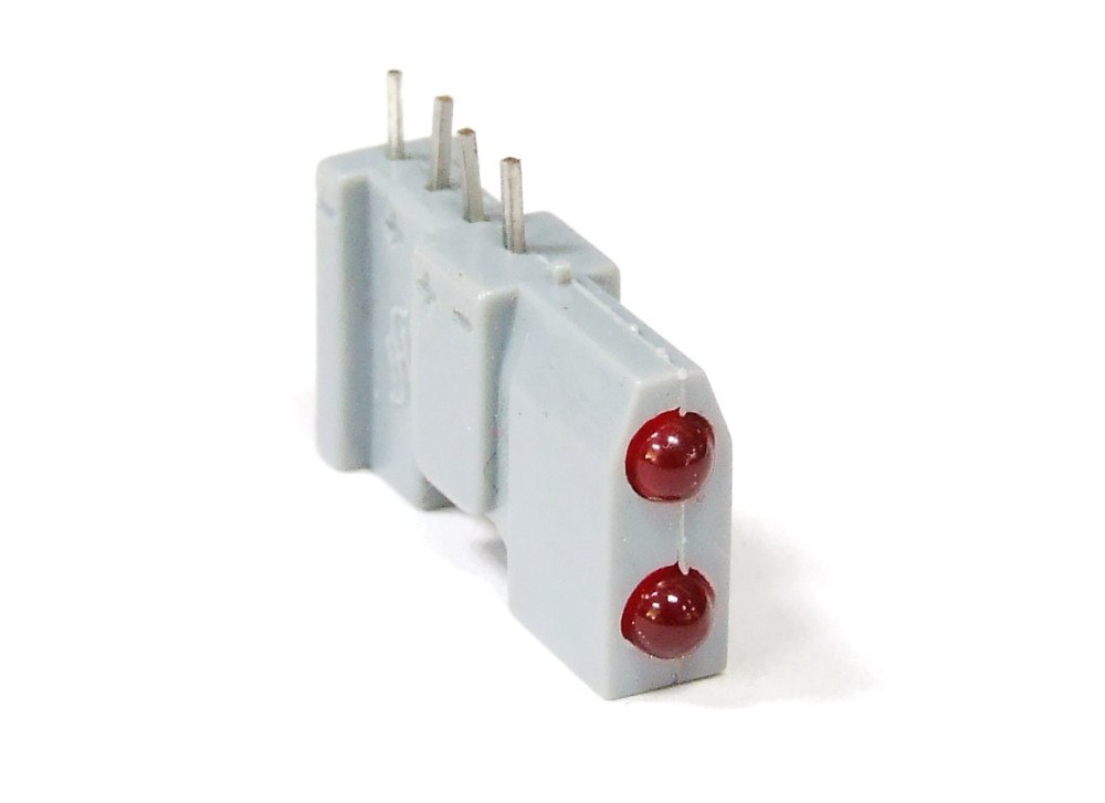 Siemens Double Emitting Diodes LED Horizontal Red 4-Pin/Doppel ...