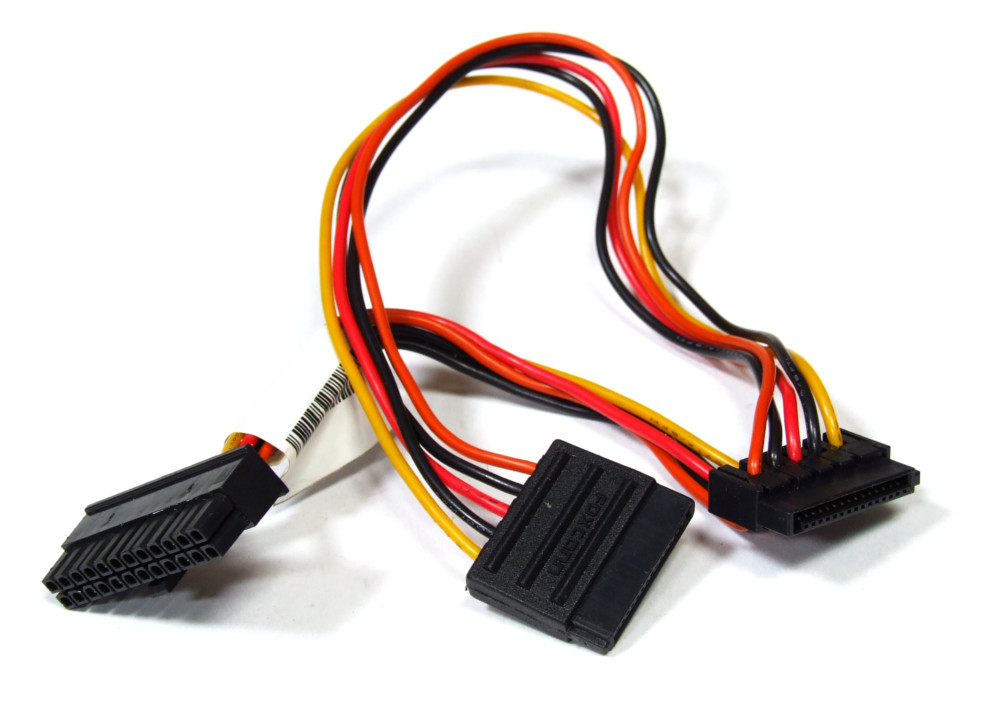 Foxconn 25R5565 24-Pin Mini ATX to 2x 15Pin S-ATA Connector Power Cable 36cm 4060787132321