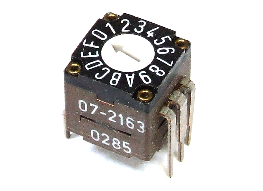 Elma 07-2163 Vertical Hex Coded Switch 16-Position 0-F 6-Pin ...