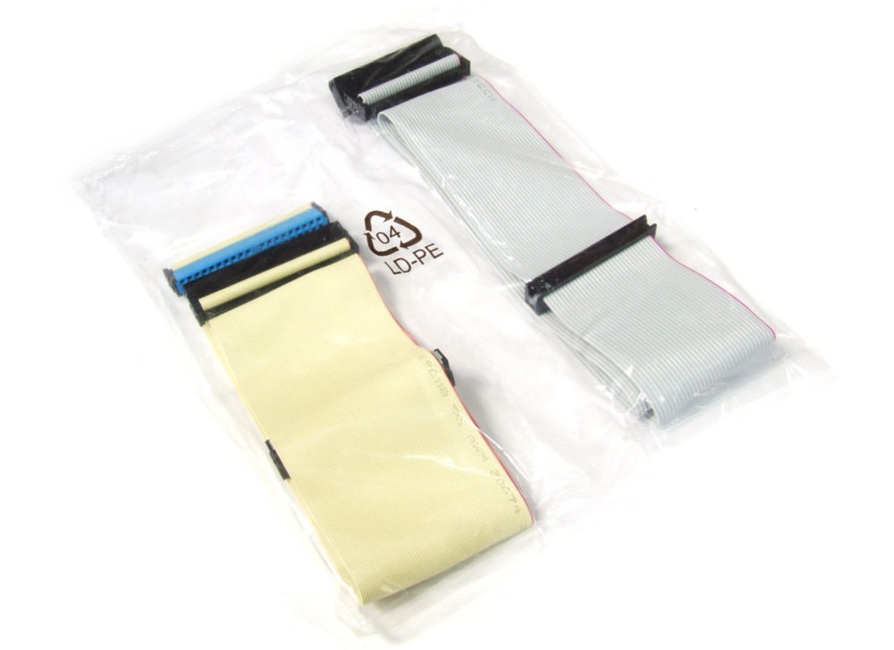 34-Pin Floppy + 40-Pin Hard Drive FDD HDD CD/DVD Ribbon Cable Set Flachbandkabel 4060787165534
