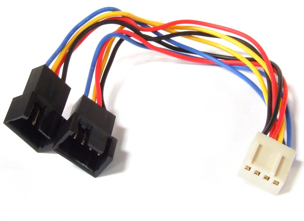 PWM Fan Splitter Power Y Cable 4-Pin Female to 2x Male / Lüfter ...