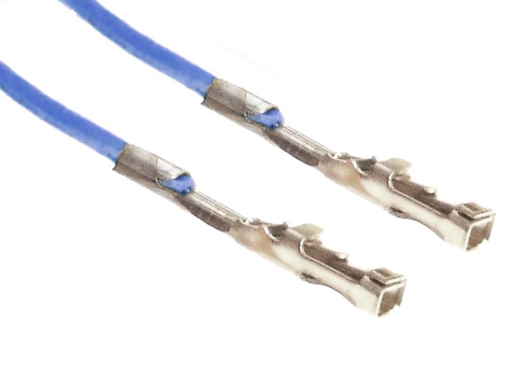 dupont kabel blau 2x 1 pin crimp kontakt buchse jumper. Black Bedroom Furniture Sets. Home Design Ideas