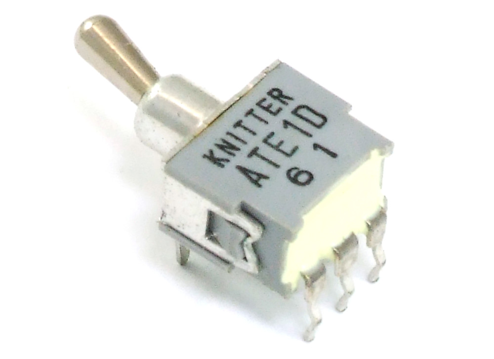 Knitter ATE1D Mini PCB SPDT Toggle Switch On-On / Miniatur Kipp ...