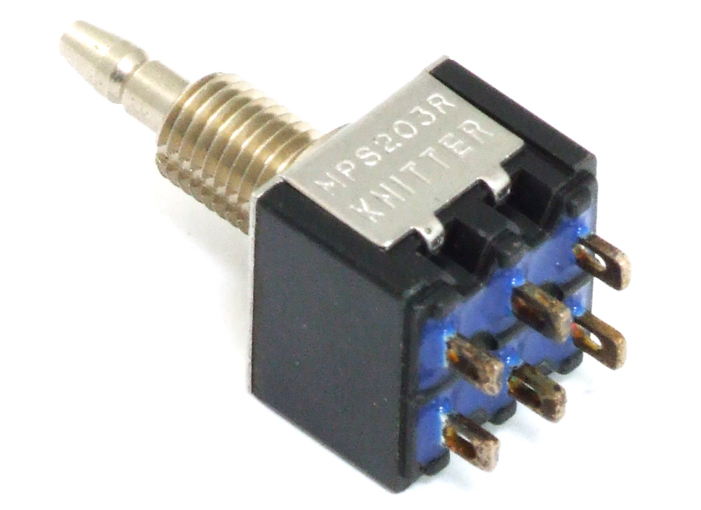 Knitter MPS203R Push-Button Switch Momentary DPDT Tast-Schalter ...
