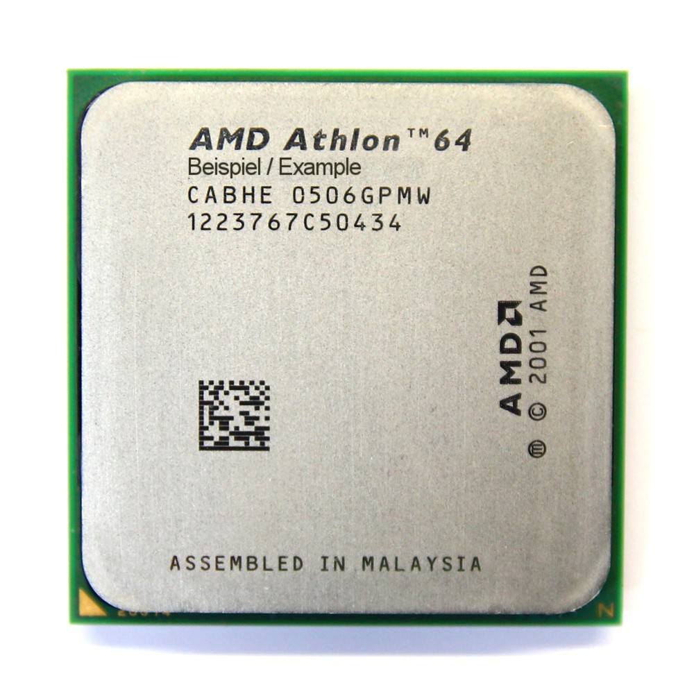 AMD Athlon 64 3200+ 2GHz/512KB Sockel/Socket 939 ADA3200DIK4BI PC CPU Winchester 4060787007650