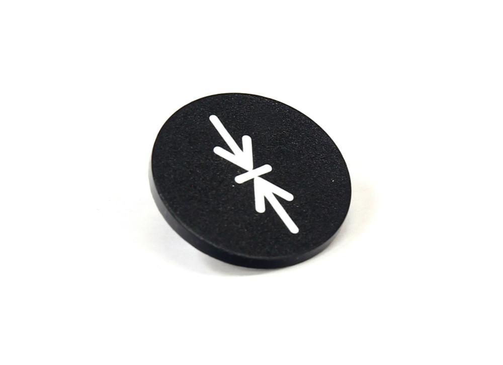 Moeller-RMQ-22-Button-Plate-Black-Druck-Tastenplatte-Einlegeschild-schwarz-23mm
