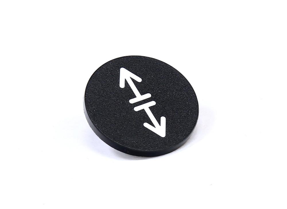 Kloeckner-Moeller-RMQ-22-54T-Button-Plate-Black-Druck-Tastenplatte-schwarz-23mm