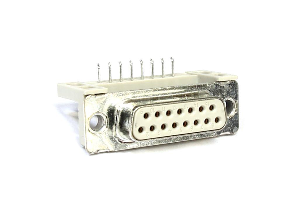 2x D-SUB 2 Row Serial Port Connector Socket Female DB15 Pin PCB Plug 90° Stecker 4060787080202