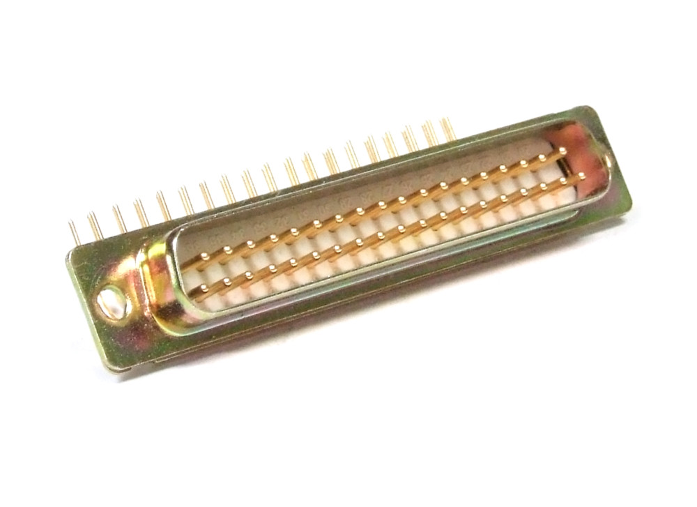 D-SUB 2 Double Row Serial Port Connector Socket Male 37 Pin PCB ...