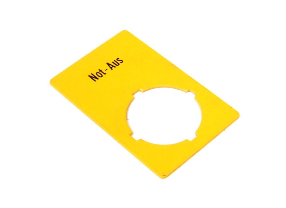 Moeller-RMQ-22-Emergency-Stop-Label-Sign-Adhesive-Not-Aus-Schild-Selbstklebend