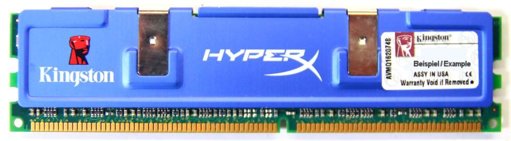 1GB Kingston HyperX DDR1-400 RAM PC3200U CL2 KHX3200A/1G Heatspreader Modul 4060787006110