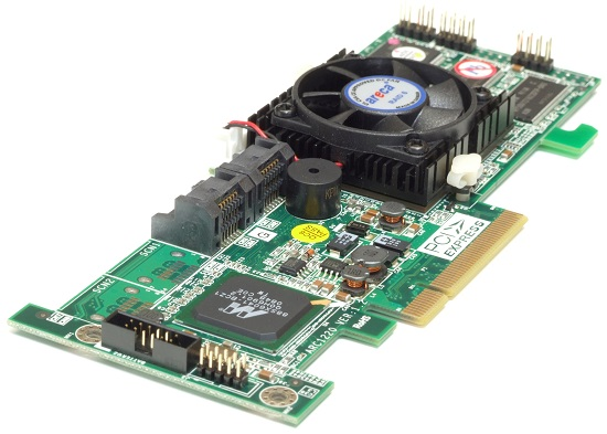 3Gb/s RAID 0/1/10/3/5/6/JBOD Controller Adapter Card 4x Serial ATA S-ATA PCI-E