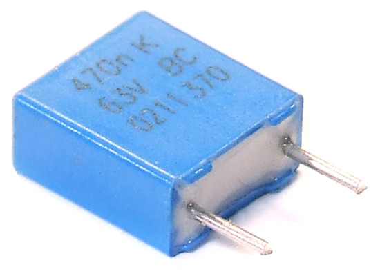 Folien Kondensator Ø6x11mm 3900pF 3.9nF 63V 5/% Styroflex Polystrol Capacitor