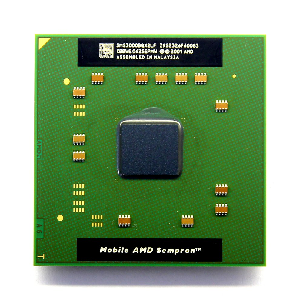NEW AMD Mobile Sempron 3000+ 1.8GHz Socket/Sockel 754 Laptop CPU SMS3000BQX2LF 4060787000033
