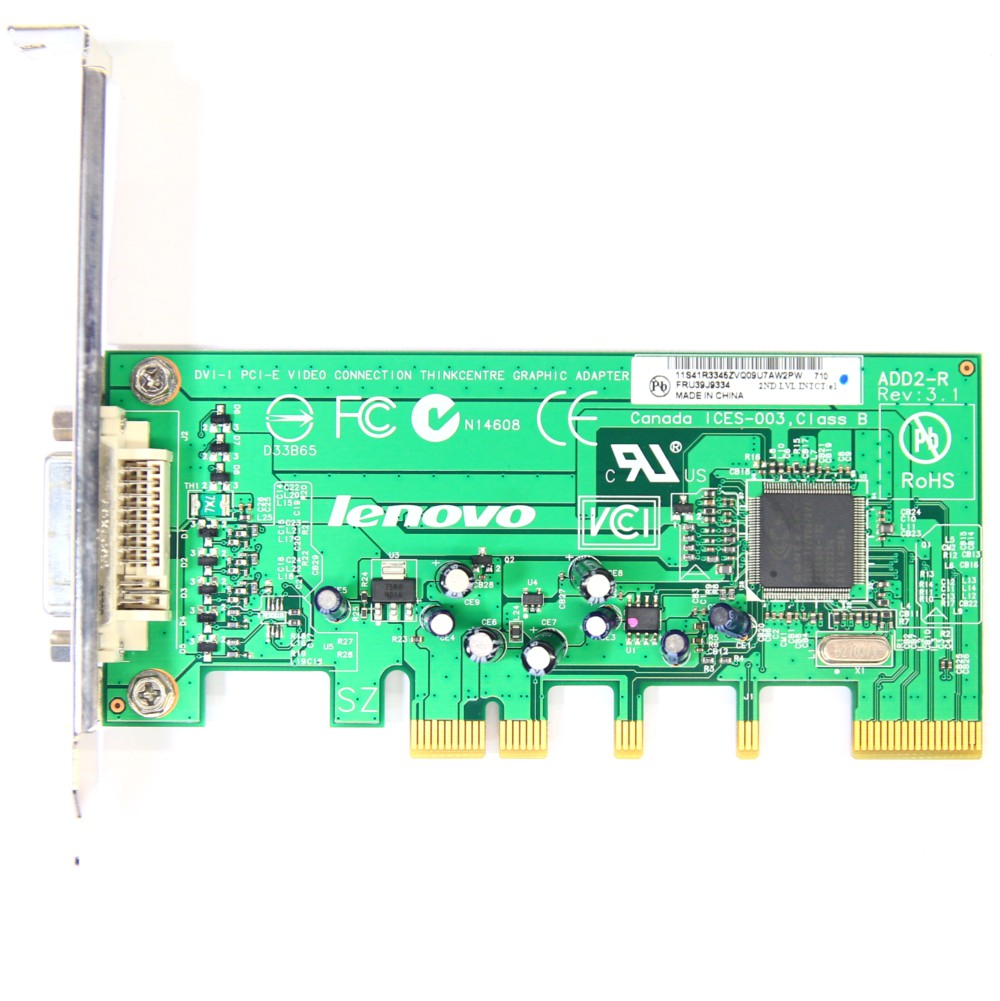IBM Lenovo DVI-I PCI-E Video Connection Graphic Adapter Card ADD2-R FRU 39J9334 4060787001740