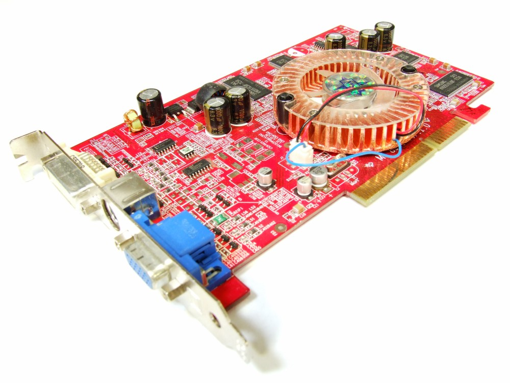 MSI RX9550-TD256 ATI Radeon 9550 256MB DDR RAM DVI VGA TV-Out AGP Graphics Card 4060787277763