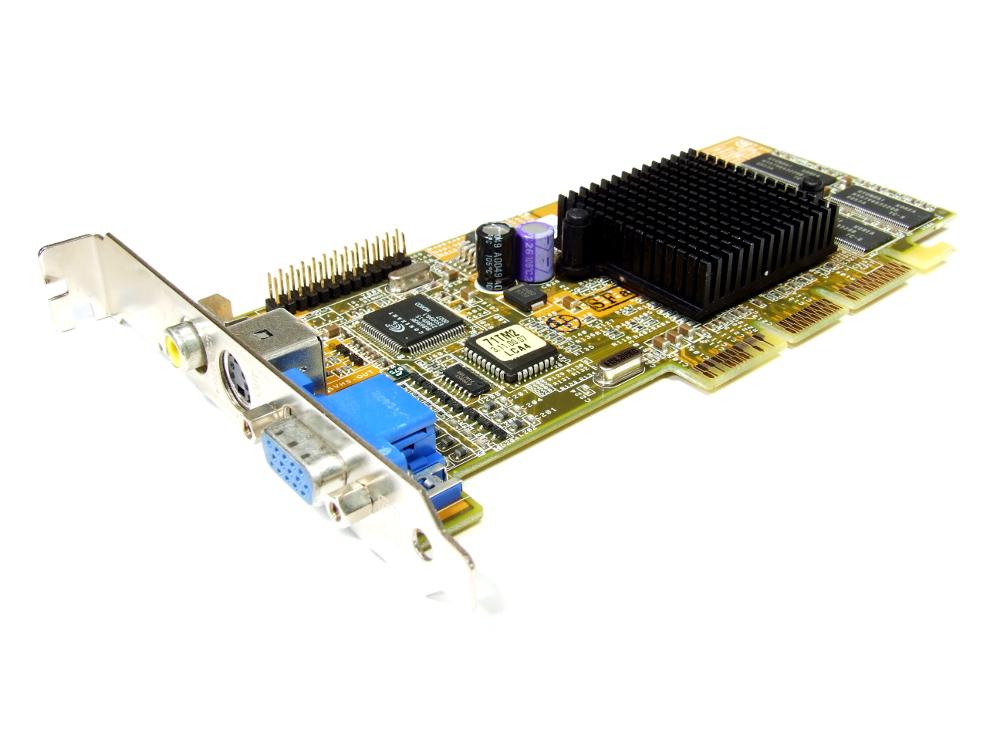 Asus C1V0DP-T/32M Nvidia GeForce2 MX200 32MB VGA AGP Video Graphics Card V7100 4060787285591