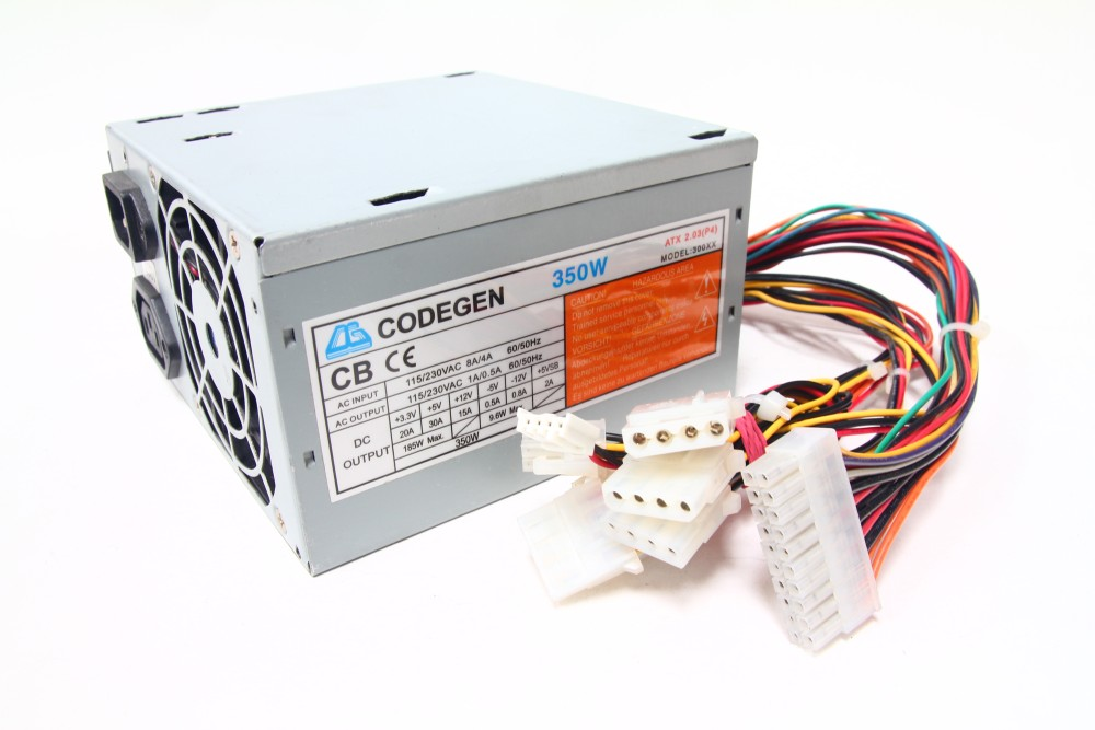 Codegen Model: 300XX 350W ATX Desktop Netzteil 230V / PC Power Supply 80mm Fan 4060787048899