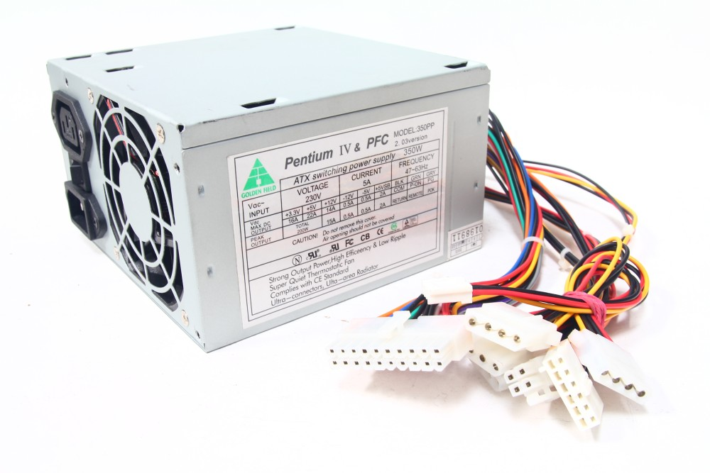 Golden Field 350PP Power Supply PSU/PC-Netzteil 350W Pentium IV PFC 6-Pin P8 Aux 4060787049124