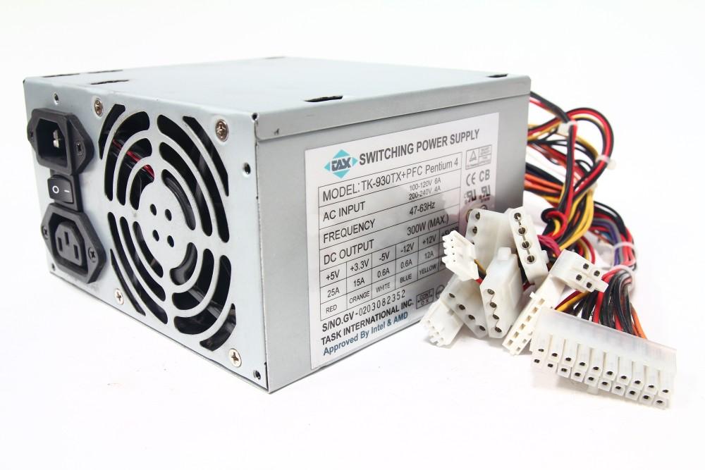 Task International TK-930TX 300Watt ATX PC Switching Power Supply PFC Pentium 4 4060787058157