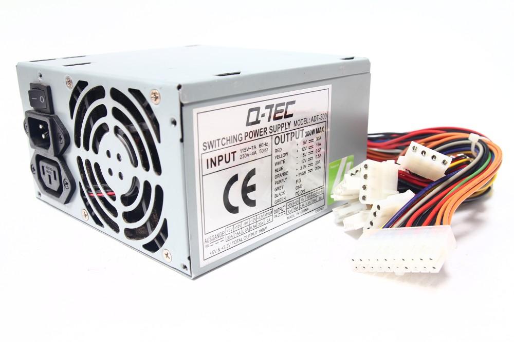 Q-TEC ADT-300 ATX Computer Switching Power Supply Unit PSU Output 300W Pentium 4 4060787058164