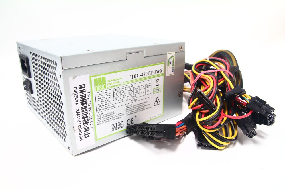 HEC-450TP-1WX ATX Computer Netzteil 450W Power Supply Unit EcoSmart 230V 4060787075468