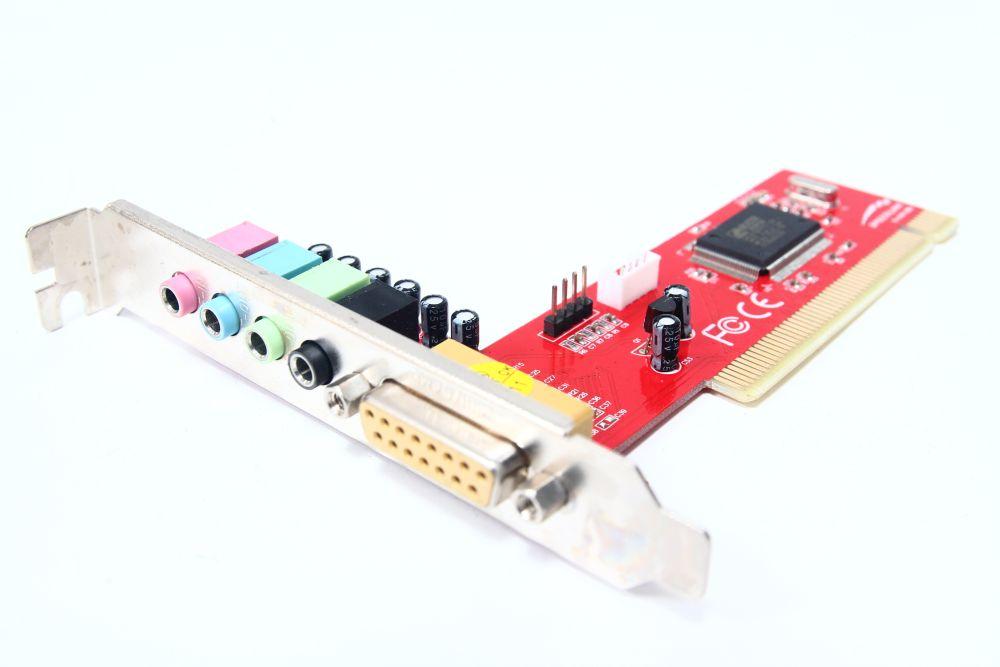 5.1 PCI Computer 3D Audio-Karte / PC Sound-Card Game-Port C-Media HSP56 CMI8738 4060787077165