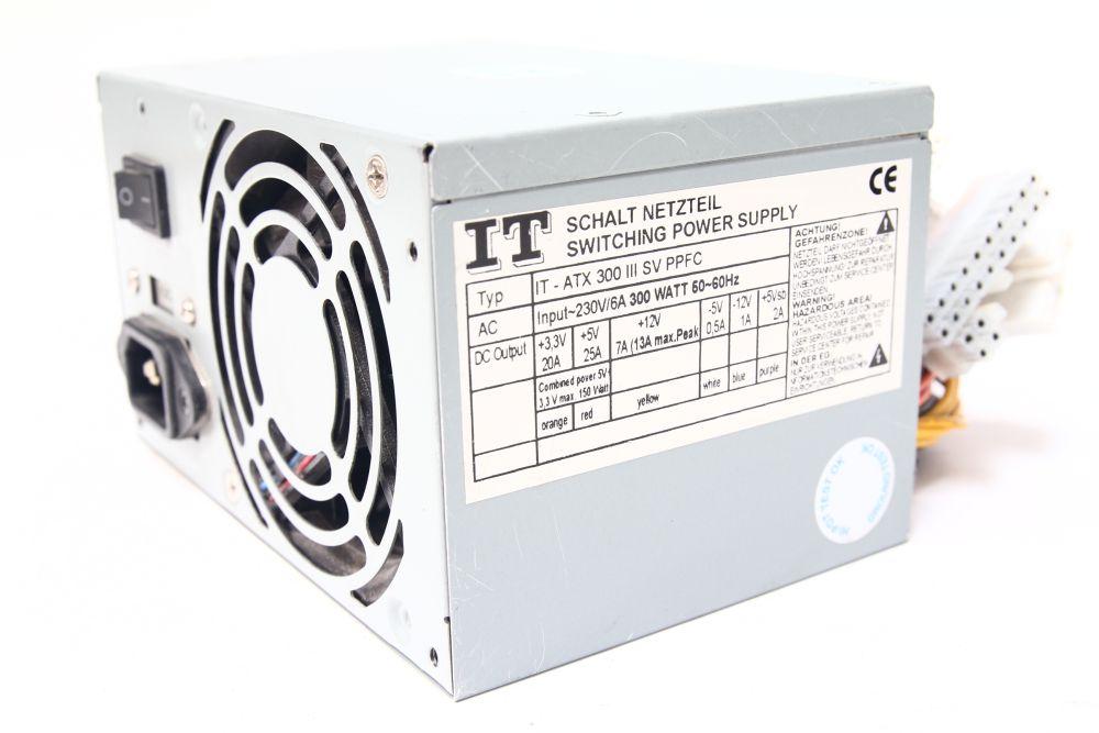 IT-ATX 300 III SV PPFC 300Watt Schalt Netzteil / Switching Power Supply 80mm Fan 4060787083456