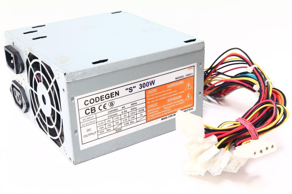 Codegen Model 300X 400W ATX Computer Netzteil / PC Power Supply Unit PSU PFC 4060787284501