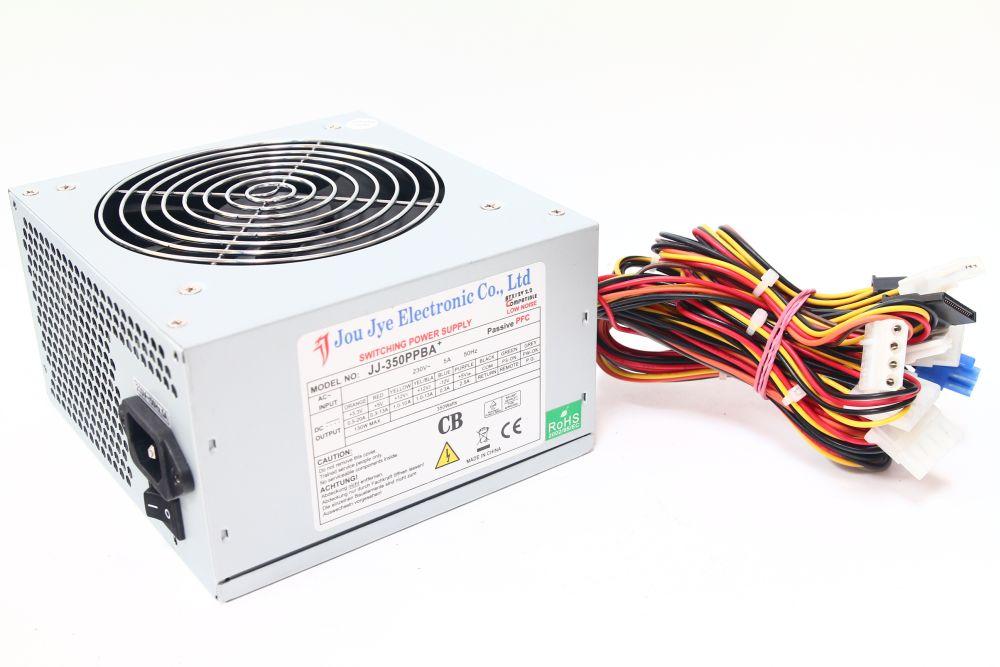 Jou Jye JJ-350PPBA 350Watt Switching Power Supply ATX Computer Passive PFC 4060787091307