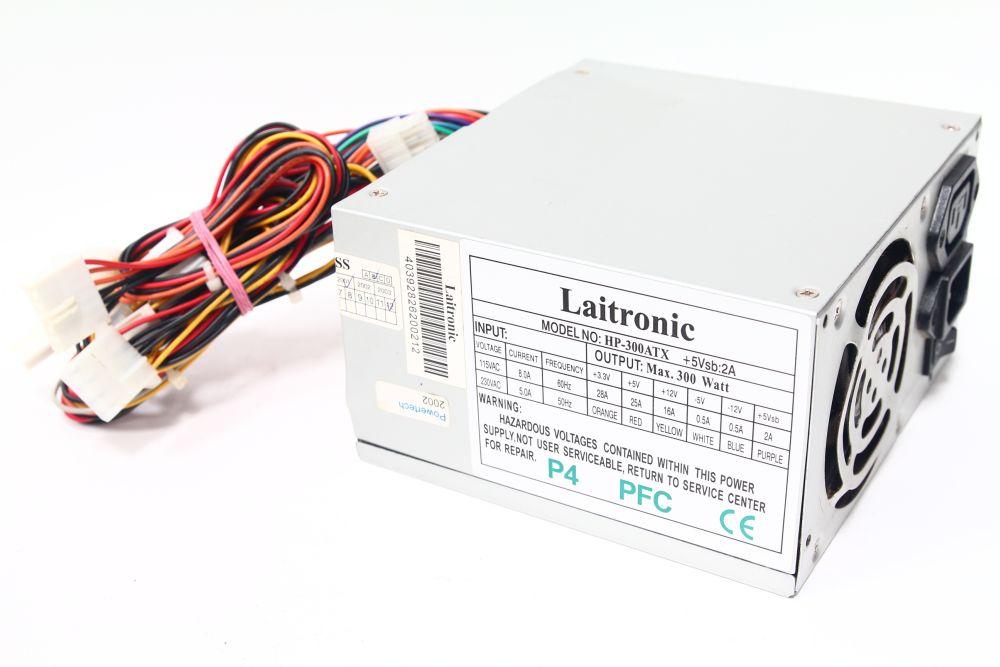 Laitronic HP-300ATX 300Watt Power Supply / Desktop PC Netzteil PFC P4 80mm Fan 4060787092731