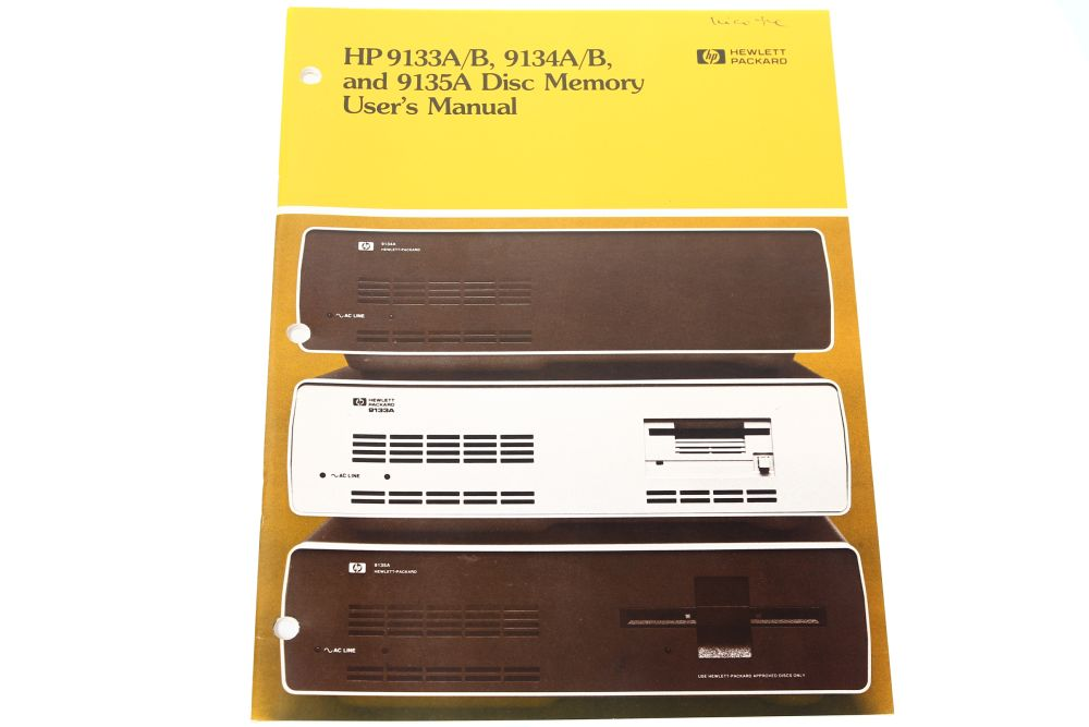 Hewlett Packard HP 9133A/B, 9134A/B and 9135A Disc Memory User's Manual Guide 4060787101501