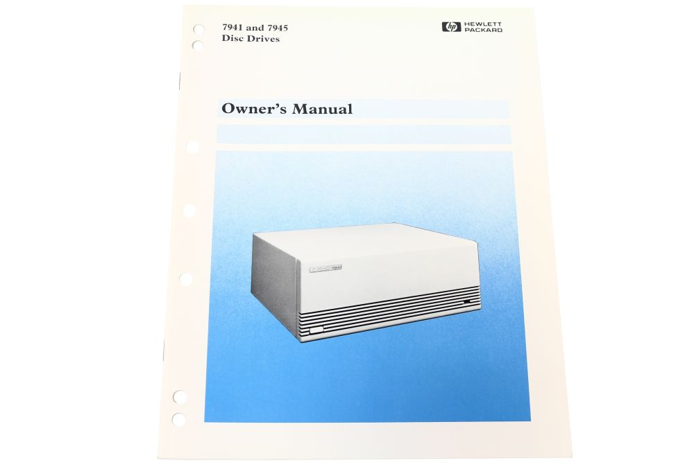 Hewlett Packard HP 07940-90901 7941 and 7945 Disc Drives Owner's Manual 4060787101518